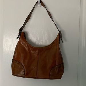 Hillard & Hanson leather boho bag.
